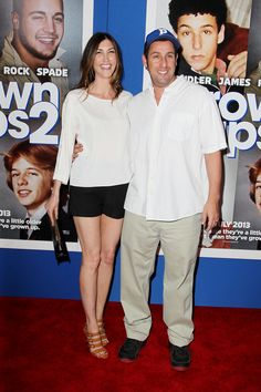 Jackie and Adam Sandler at the #GrownUps2 Premiere in NYC.
