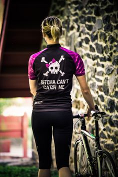 Hill Killer Apparel: Betcha Can't Catch Me Women's Cycling Jersey