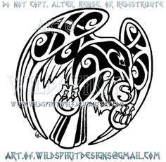 Raven + Medallions Celtic Knotwork Design by WildSpiritWolf Celtic Raven Tattoo, Celtic Knot Tattoo, Celtic Tattoos, Wiccan Tattoos, Indian Tattoos, Symbol Tattoos, Celtic Knots, Celtic Patterns, Celtic Designs
