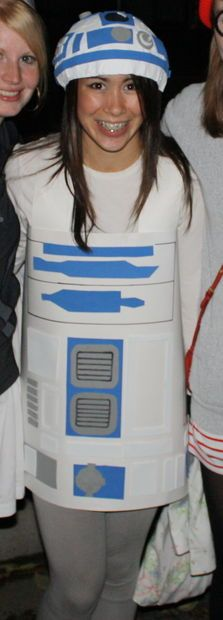 DIY; How to Make a R2D2 Costume for $10! Full Instructions :-D