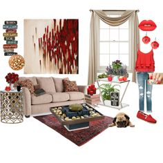 relaxZEN by jeannette-marshall on Polyvore featuring interior, interiors, interior design, home, home decor, interior decorating, Worlds Away, Thos. Baker, David Trubridge and 10 Strawberry Street