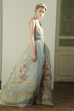 Alberta Ferretti unveiled her spectacular new Paris showroom, along with her limited-edition spring 2016 evening collection directly inspired by its ornate moldings, romantic frescoes and dramatic chandeliers.