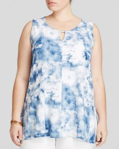 Lysse Plus Vista Abstract Print Top