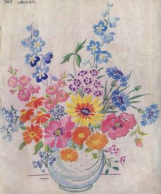 ♒ Enchanting Embroidery ♒  Vintage embroidery 1948