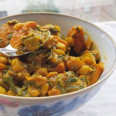This is a killer curry that's sure to nurse you through the eternal winter.  Aley threw some avocado on top and I finished it with some ghost pepper salt.  Enjoy!  Kale, White Bean & Sweet Potato Korma, Vegan + Gluten Free // inmybowl.com.