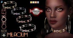 Jom Sims Creations: New Milacium choker • Sims 4 Downloads