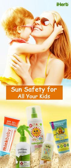Sunny weather means that it's important to protect the skin of your little ones. Follow the link in the graphic to check out selection of Sunscreens for Babies and Kids!
