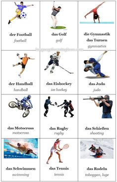 German Sports Flashcards - learn German,flashcards,german,vocabulary,sports