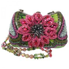 Mary Frances Pink Peony evening bag