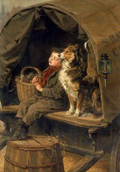 Ralph Hedley (1848-1913) Último en el Mercado, 1885 Óleo sobre lienzo