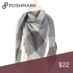 PRICE DROP Super Soft Oversized Blanket Scarf Newly added, gorgeous super soft oversized blanket scarf in gray tones.  Light woven blend of cashmere, cotton, and wool.  Measures approximately 140cm x 140cm x 210cm.  Fringed edges.  New in package. Accessories Scarves & Wraps
