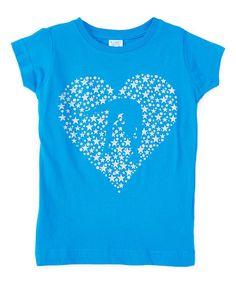 Turquoise Heart Crewneck Tee - Infant Toddler & Girls
