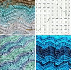 Lace Knitting Patterns, Knitting Stiches, Knitting Charts, Loom Knitting, Crochet Stitches, Hand Knitting, Stitch Patterns, Knitting Projects, Russian Online