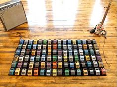 Interactive Guitar Pedal Art Installation – by David Byrne. Funny! - http://www.99pedalboards.com/project/interactive-guitar-pedal-art-installation-by-david-byrne/