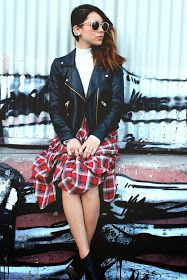 Anything With Studs: PLAID SKIRT