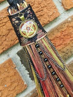 Your place to buy and sell all things handmade Bali, Brooms And Brushes, Tiger Grass, Wiccan Altar, Witch Broom, Witch Decor, Pentacle, Bead Caps, Metal Chain
