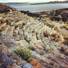 Thorikos Ancient Theater near Athens Ancient Greek Theatre, Attica Greece, Ancient Beauty, In Ancient Times, Ancient Architecture, Greece Travel, Ancient Greece, Where To Go, Athens