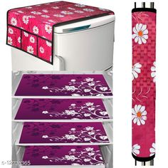 Fridge Covers LooMantha Combo Pack of 1 Pc Fridge Top Cover, 1 Pc Handle Cover & 4 Pc Fridge Mats  Material :Top Cover- Knitting ,Mat -PVC Dimension: (L x W) - Top Cover - 40 in X 20 in,  Mat -12 in x 18 in,Handle Cover: 15 cm X 30 cm Description: It Has 3 Pieces Of Fridge  Mats,1 Piece Of Fridge Top Cover & 1 Piece Of Handle Cover Work : Printed Sizes Available: Free Size *Proof of Safe Delivery! Click to know on Safety Standards of Delivery Partners- https://ltl.sh/y_nZrAV3  Catalog Rating: ★4.1 (22938)  Catalog Name: Trendy Home & Kitchen Utilities Cover Combo Vol 4 CatalogID_244735 C131-SC1623 Code: 681-12731365-