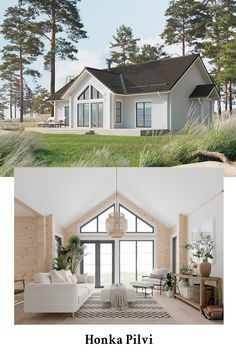 Prefab Cabins, Prefab Homes, Log Homes, Scandinavian Architecture, Scandinavian Home, Log Home Living, Small House Exteriors, Cosy House, Small House Floor Plans