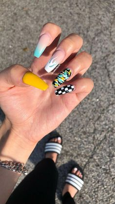 In seek out some nail designs and ideas for your nails? Listed here is our set of must-try coffin acrylic nails for cool women. Camo Nails, Aycrlic Nails, Manicure, Coffin Nails, Nail Nail, Top Nail, Nails Inc, Best Acrylic Nails, Summer Acrylic Nails