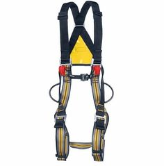 A lightweight, full body harness with front and rear attachment points. Color coded to quickly find your size. Used for ropes courses, outdoor programs, rescue and industrial work. All black version available. Climbing Harness, Ropes Course, Body Rock, Cat Harness, Animal Nutrition, Rappelling, Outdoor Recreation, Service Dogs, Full Body