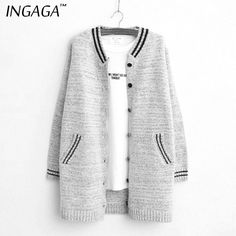 INGAGA 2015 Newest Korean Style Baseball Clothing Cardigans | Aliexpress.com