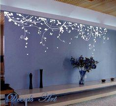 "Vines 102"" X 28"" -Vinyl wall sticker- wall decal- tree decals- wall murals art - nursery wall decals- Nature- Tree"