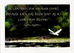 Be grateful. ..... Rumi