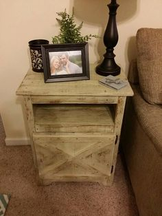 Reclaimed wood night stands/side tables