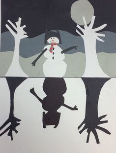 Check out student artwork posted to Artsonia from the Positive & Negative Snowman Collage project gallery at Becky-David Elementary School.