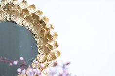 Espejo pasta modelar diy : via La Chimenea de las Hadas