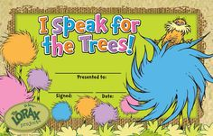 Quotes The Lorax I Speak For Trees by @quotesgram