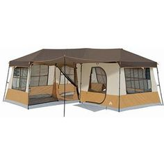 Ozark Trail 16' x 16' Cabin Dome Tent, Sleeps 12 - My Idea of camping...a tent with A/C!