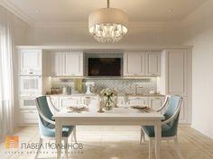 Фото: Дизайн кухни - Интерьер двухкомнатной квартиры в ЖК «Классика», 75 кв.м.
