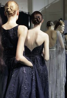 Elie Saab, Couture f/w 2013/14 Backstage.