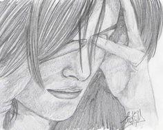 Anime triste para dibujar a lapiz - Imagui
