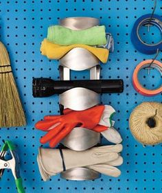 Cheap Organization Hacks for a Clutter-free Home: Wall-mounted wine rack used for garage organization Wine Rack Uses, Ikea Wine Rack, Wine Rack Storage, Wine Rack Wall, Wine Racks, Tool Storage, Storage Ideas, Clutter Organization, Garage Organization