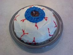 eyeball cake or volcano cake