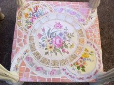 Image detail for -Crafty Stuff: Broken Plate Mosaic Table