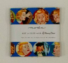 Get A Clue Nancy Drew Charm Pack/ Moda by SewFabricDeals on Etsy, $8.50