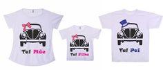 Kit tal mãe, tal pai, tal filha - Clube da T-shirt