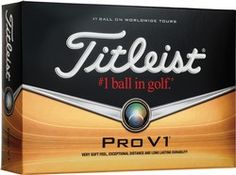 The Titleist Pro V1 golf ball is Tour-proven that provides the ultimate combination of distance, consistent flight, very soft feel and Drop-Andtop greenside control. Production time begins when camera-ready art is received, a completed order is submitted, and credit has been established or payment received.