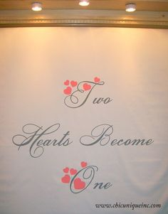 Hand painted heart themed wedding aisle runner