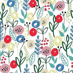 Love this colour palette! Another little floral pattern soon to be on @patternbank #newonpatternbank #patternbankdesigner #surfacepattern #patternlicensing #floral #floralpattern IG: @debbie_monson