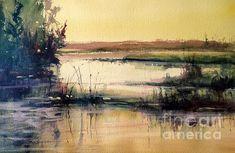 Upper Penninsula Marsh Painting by Sandra Strohschein - Upper Penninsula Marsh Fine Art Prints and Posters for Sale