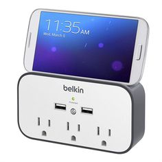 USB Wall Mount Surge Protector with Cradle - FrontViewImage