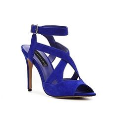 The blue on these shoes it electric! | Steven by Steve Madden Elaine Sandal | #pintowin #DSWShoeHookup