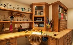 Fly Tying Room traditional basement