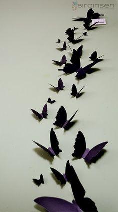 Motylki 3D na ścianę - DIY, zrób to sam!