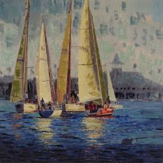 Regatta - Exclusive Giclee on Canvas by Paragon Wall Decor